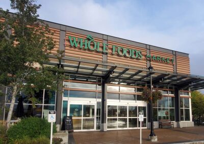 Commercial window cleaning Grocery store external window cleaning and pressure washing services by R&R Windows